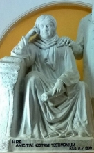 H. P. Blavatsky statue in the Headquarters Hall, Adyar