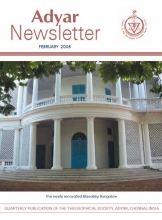 Adyar Newsletter Feb 2008 Cover Image