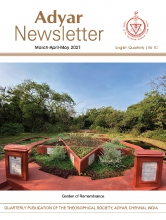 Adyar Newsletter May 2021 Cover Image